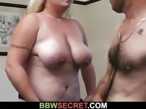 Fat bitch uses chance to fuck him