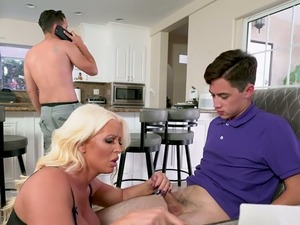 Sexy Alura Jenson is a thick strong MILF who loves fucking younger men