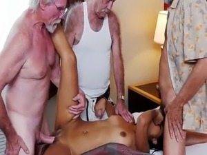 Old father in law Staycation with a Latin Hottie