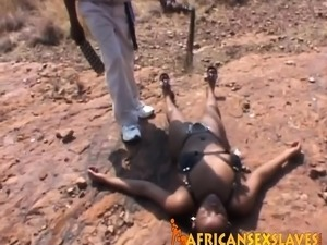 Rough fingering and abusing with nasty African slut!