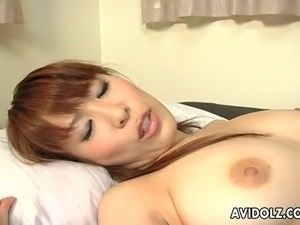Shizuku Natsukawa is fingered in her tight hairy pussy