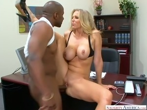 Statuesque MILF Julia Ann is one hot boss who loves fucking her employees