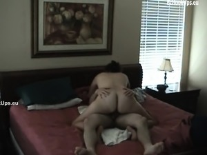 cheating wife doing some serious fucking riding a big cock