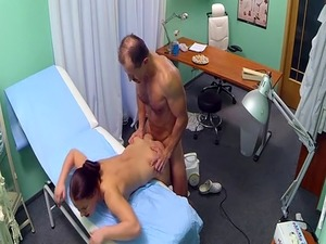 Doctor bangs cleaning lady in hospital