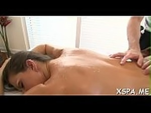 Sexy thing feels her massage