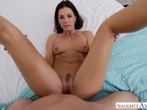 Horny India Summer loves to give a blowjob and this MILF is stupid hot