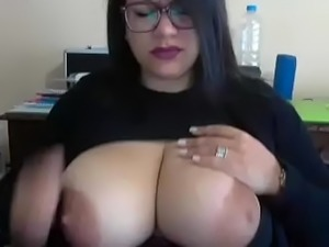 Nerd milf with hot tits free show