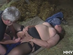Extremely fat village hoe gets her twat licked and fucked missionary style