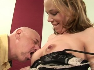 Cougar wife with tattoo gets bonked cowgirl style in a cuckold scene