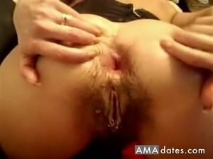 Dirty haired pussy got teased