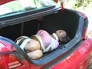 Bursting To Pee, Sexy Kidnapped Girl Can&#039_t Hold It Anymore In The Trunk