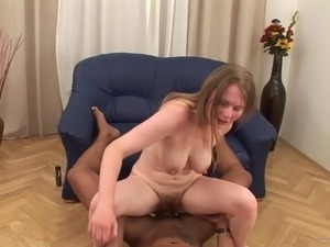 Voracious MILF gets her hairy cunt impaled by black pecker