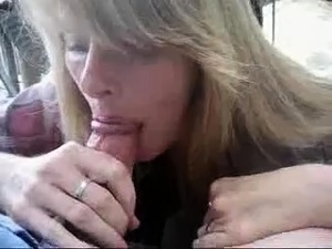 Blonde's tender tongue makes her fuckmate's cock pop quickly