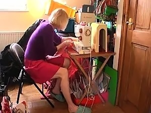 Lustful blonde with sexy long legs takes herself to orgasm