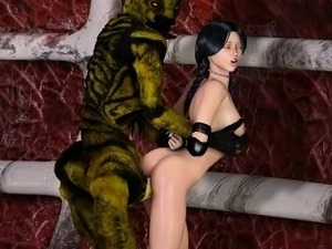 3D Girls Destoyed by Alien Creatures!