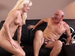 Mature workout and blonde road Horny platinum-blonde