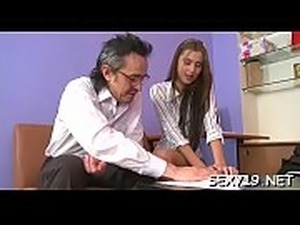 Hardcore lesson with sexy chick