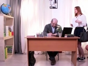 Sandra gets tricked into sex by her perverted teacher
