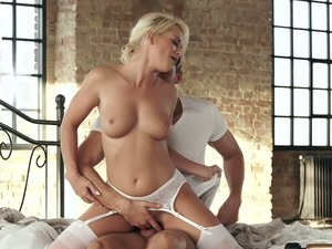 Italian hottie Rossella Visconti is made to ride strong cock on top