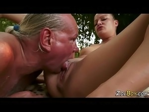 Teen whore gets pissed on