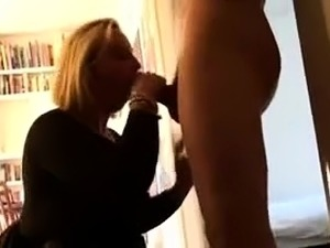 Sultry blonde wife with big tits enjoys an intense fucking