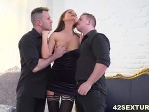 Unique double anal fuck with Tina Kay