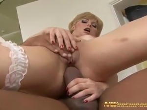 Young Blonde Babe Fucked Doggy in Tight Ass with Big Cock