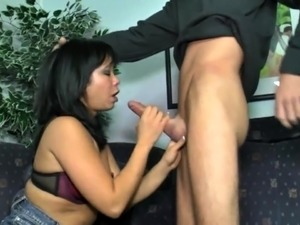 Sweet amateur asian babe loves pumping big hard cock