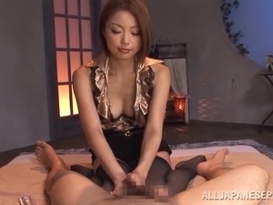 Incredible Japanese Chick Goes Hardcore After Giving A Handjob