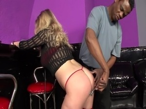 Submissive blonde gets spanking