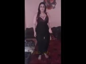 Amazing dance with busty arabic girl