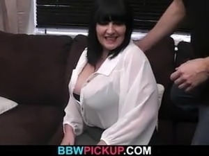 Fat babe is picked up and pussy-fucked