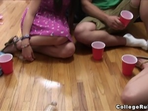 Stunning Coed Goes Hardcore After A Crazy College Party