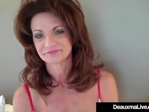Hot Cougar Deauxma Tests How Deep She Can Go WIth 9in Dildo!