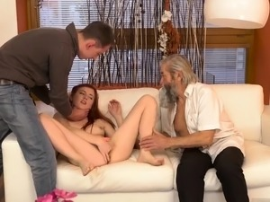 Old grandpa Vanessa, her bf and his father wished to see
