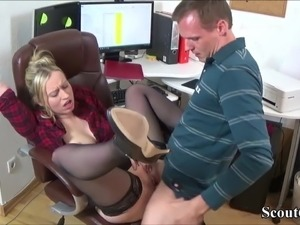German Young Boy Seduce his MILF Co-Worker to Fuck