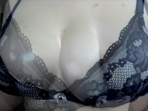 Perfect busty gf oily hj
