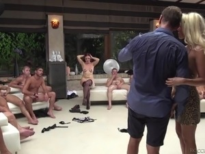 Wild hardcore orgy party with such a cock hungry Czech slut Eveline Dellai