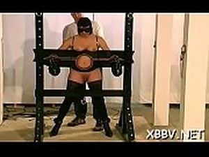 Chubby female bound up and coercive to endure bdsm xxx