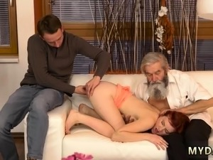 Russian old mature Unexpected practice with an older gentlem