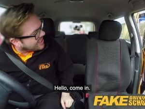 Fake Driving School Big tits learner ends lesson with anal