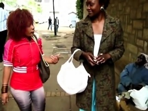 Jojo and Akua are two horny young lesbians from Africa.