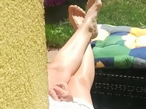 My aunt legs and feet