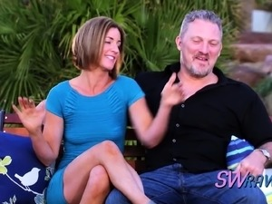 Swinger couple is amazed with mansion