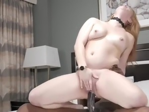 Mature blonde milf squirts all over bbc