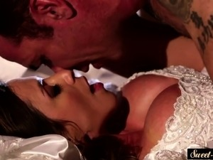 MILF bride banged and sprayed with hot cum