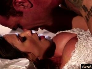 MILF bride banged and sprayed with hot cum
