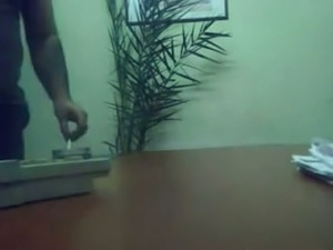 Hidden cam video of amateur Indian couple fucking on the table