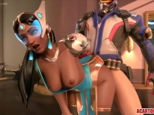 Sexy 3D heroes getting hammered raw compilation
