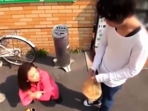 Sultry Japanese girl seduces a boy and enjoys his hard prick